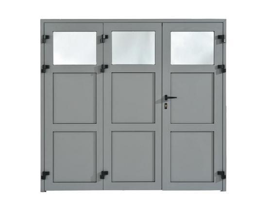 Porte de garage Evolution panneaux pleins 3 vantaux