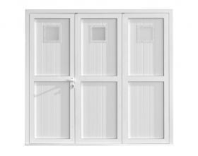 Porte de garage Symbioz'A 3 vantaux avec hublots