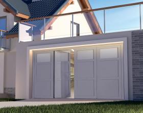 Porte de garage Evolution panneaux pleins 4 vantaux