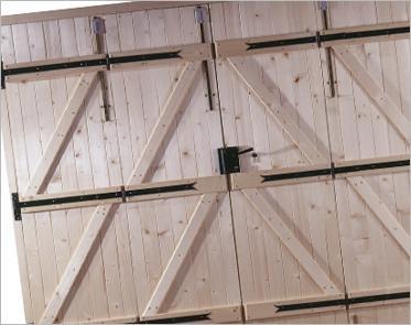 Portes de garage barres et écharpes