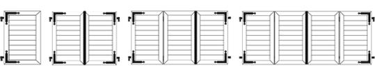 1, 2, 3 ou 4 vantaux