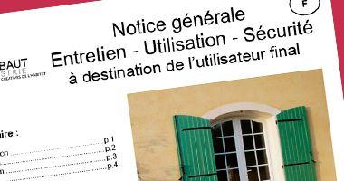 Notice générale Entretien & Utilisation & Sécurité