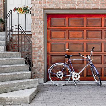 Une porte de garage de roi