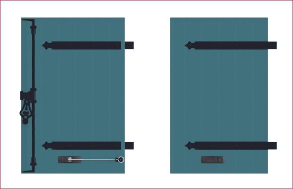 quincailleries des volets battants bois volets thiebaut. Black Bedroom Furniture Sets. Home Design Ideas