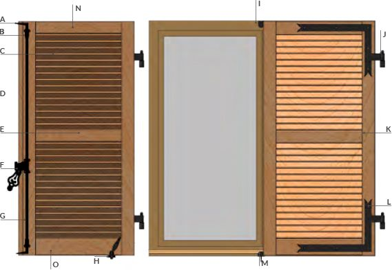 Comprendre le volet persienne bois